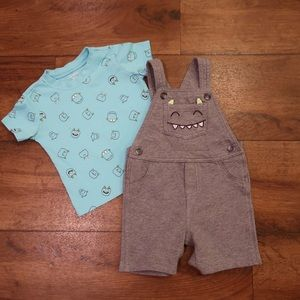 Monster Overalls from Carters